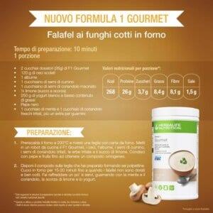 Herbalife Formula 1 Gourmet Crema di Funghi - Ricetta falafel ai ceci