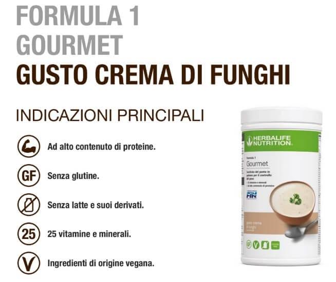 Herbalife Formula 1 Gourmet Crema di Funghi